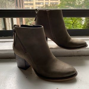 Blondo stone colored booties, like new!
